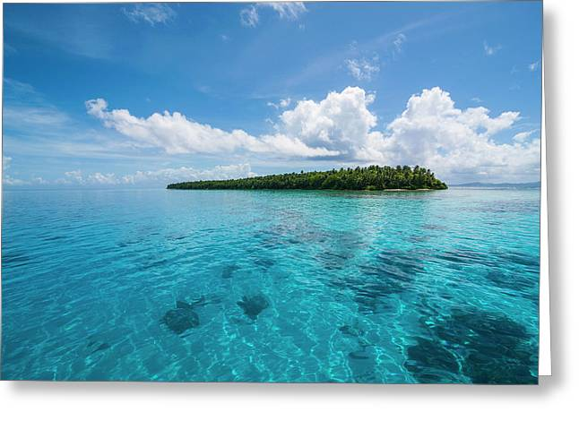 Little Islet In The Ant Atoll, Pohnpei Greeting Card by Michael Runkel