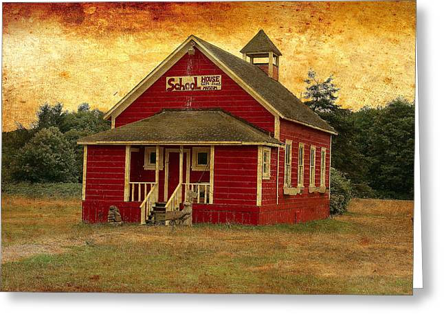 Little Red School House Greeting Card