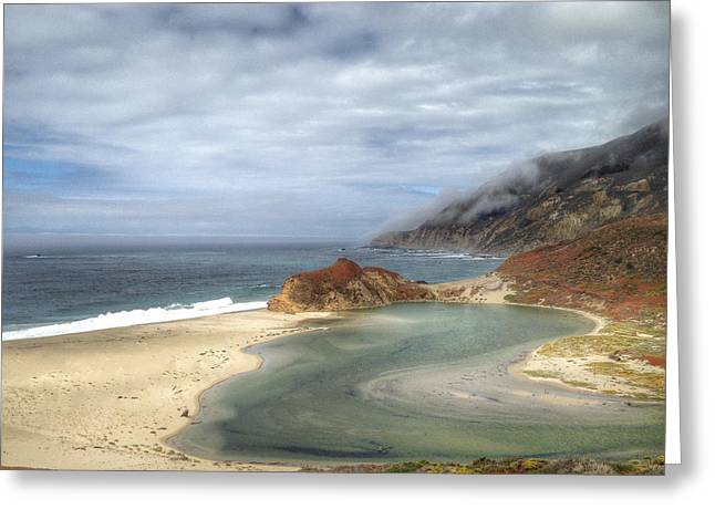 Little Sur River In Big Sur Greeting Card