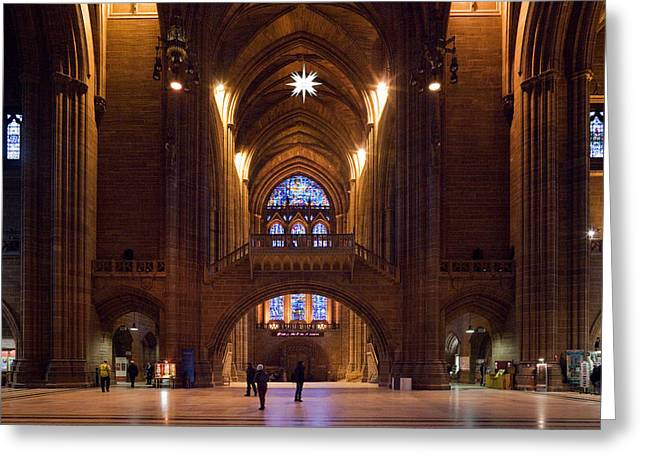 Liverpool Cathedral, Liverpool Greeting Card by Panoramic Images