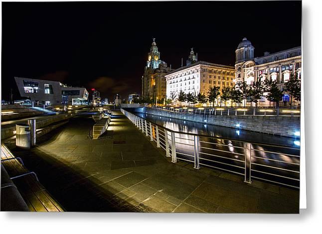 Liverpool Waterfront Greeting Card by Wayne Molyneux
