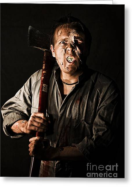 Living Dead Killer Zombie Greeting Card by Jorgo Photography - Wall Art Gallery