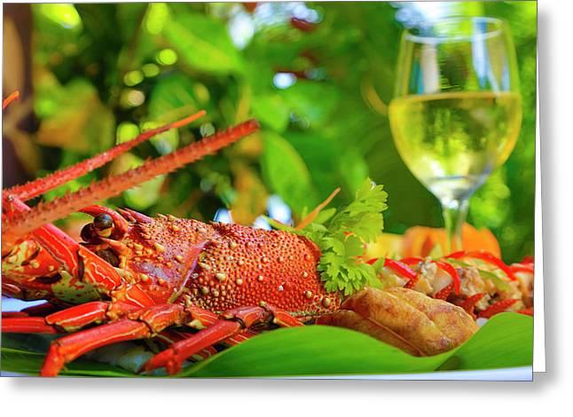 Lobster, Fiji Greeting Card by Douglas Peebles