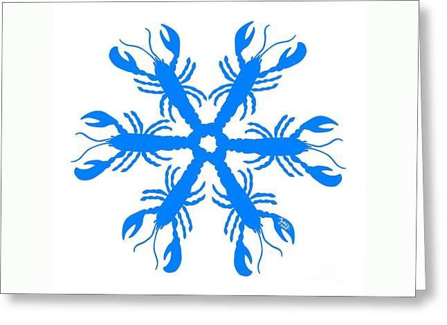 Lobster Snowflake 198 20080719 Greeting Card by Julie Knapp
