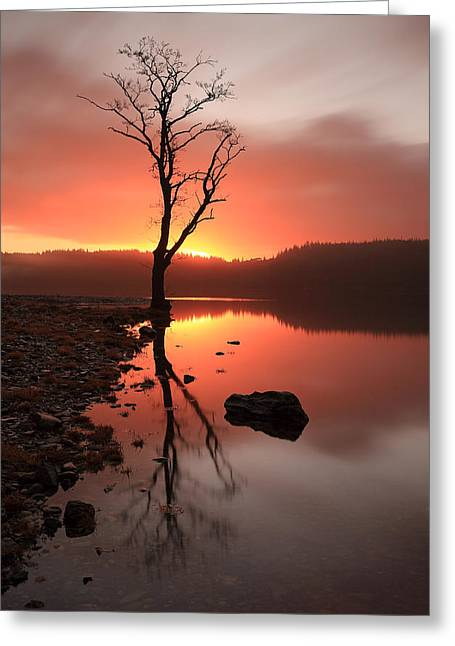Loch Ard Sunrise Greeting Card