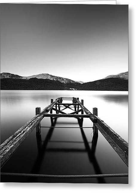 Loch Lomond Jetty Greeting Card by Grant Glendinning