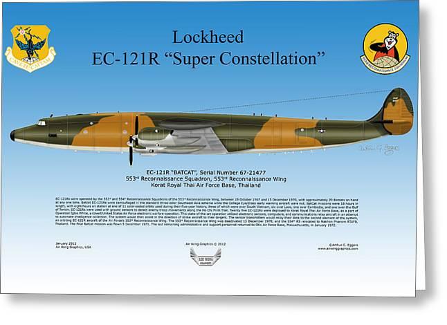 Lockheed Ec-121r Super Constellation Greeting Card by Arthur Eggers