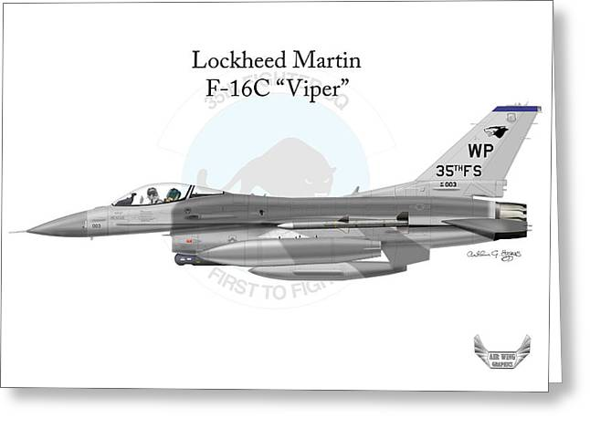 Lockheed Martin F-16c Viper Greeting Card by Arthur Eggers