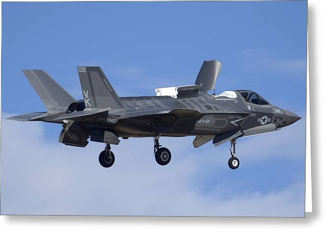 Lockheed-martin F-35b Lightning 2 Buno 168720 Luke Air Force Base December 10 2013 Greeting Card by Brian Lockett