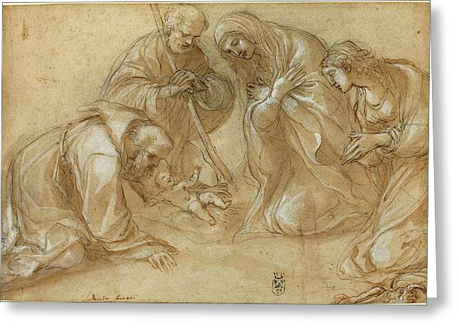 Lodovico Carracci Italian, 1555 - 1619 Greeting Card