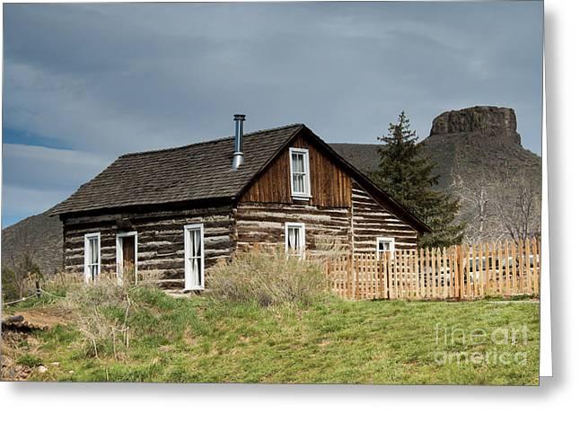 Log Cabin Greeting Card by Juli Scalzi