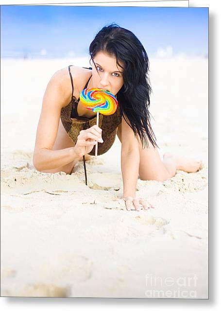 Lollipop Queen Greeting Card