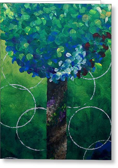 Lollipop Tree Green Greeting Card
