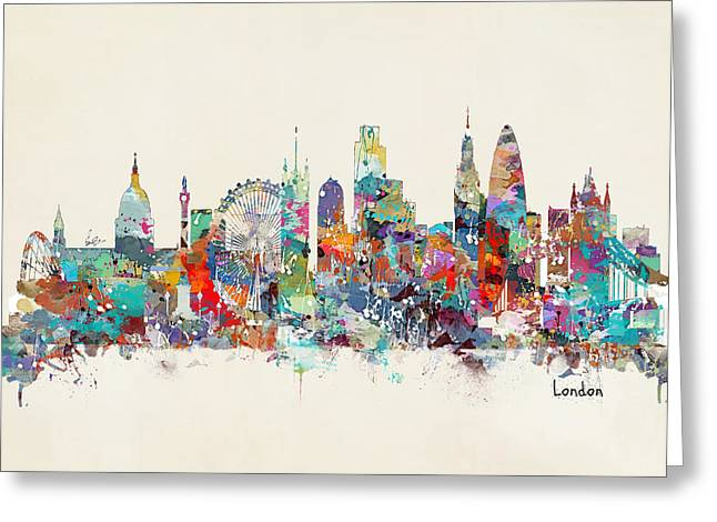 London City Skyline Greeting Card