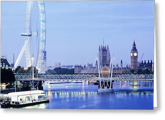 London Eye Greeting Card by Mark Thomas/science Photo Library