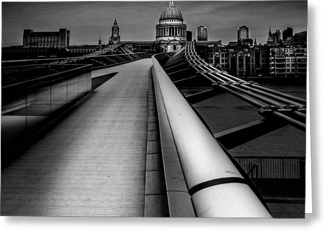 London St.paul's Cathedral Greeting Card by S J Bryant