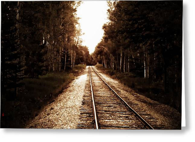 Lonely Railway Greeting Card