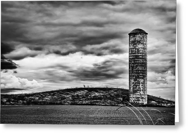 Lonely Silo Greeting Card by Ricky L Jones