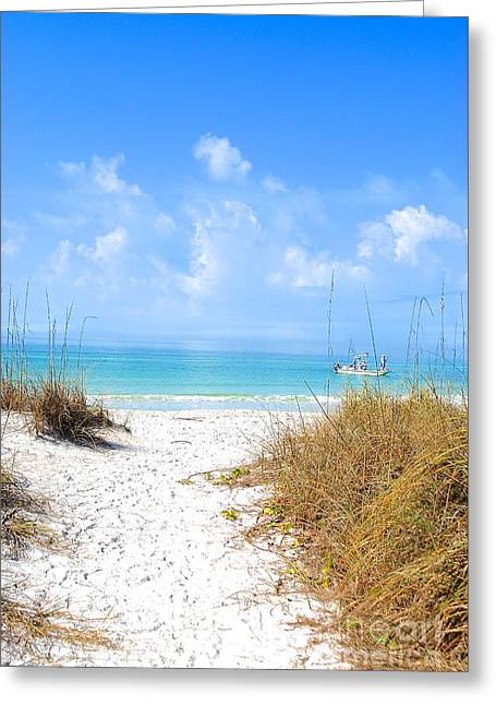 Greeting Card featuring the photograph Anna Maria Island Escape by Margie Amberge