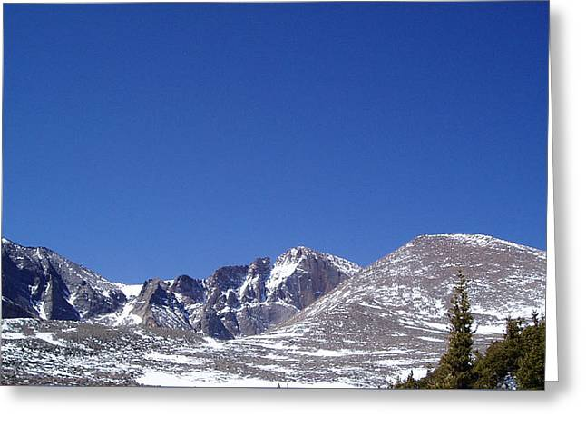 Longs Peak And Blue Sky Greeting Card
