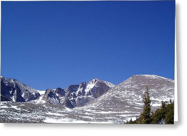 Longs Peak And Blue Sky Greeting Card