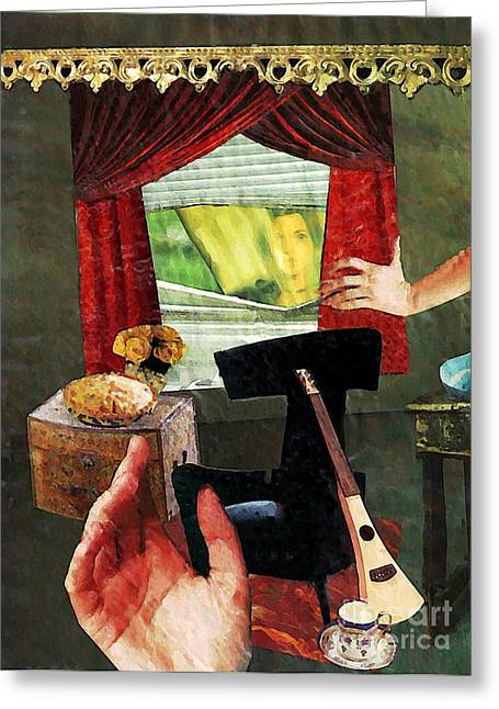 Looking In Greeting Card by Sarah Loft