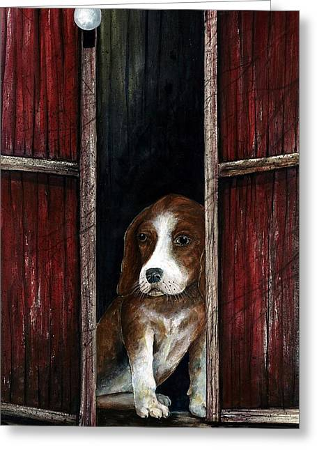 Looking Out Greeting Card by Steven Schultz