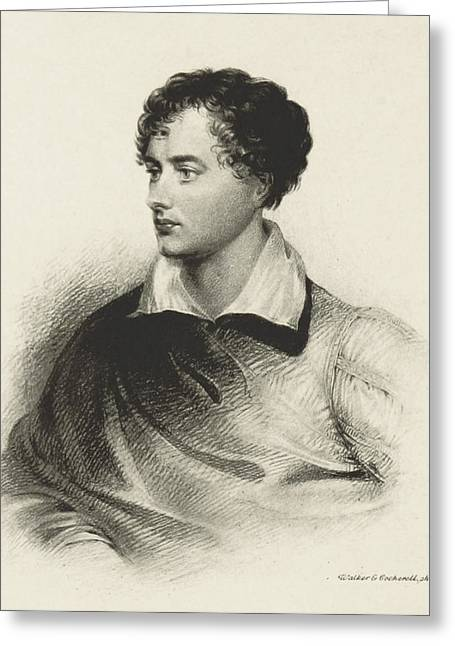 Greeting Card featuring the photograph Lord Byron, English Romantic Poet by British Library