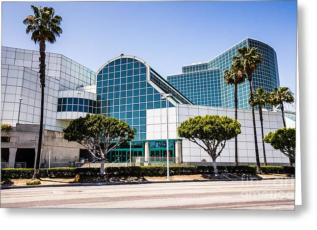 Los Angeles Convention Center Picture Greeting Card by Paul Velgos