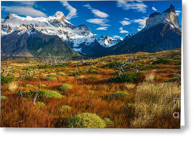 Los Cuernos Panorama Greeting Card by Inge Johnsson