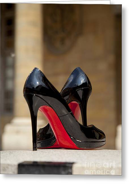 Louboutin Heels Greeting Card