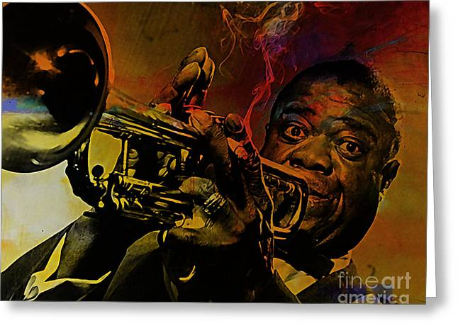 Louis Armstrong Greeting Card by Marvin Blaine