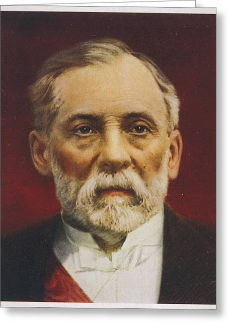 Louis Pasteur (1822 - 1895) French Greeting Card by Mary Evans Picture Library