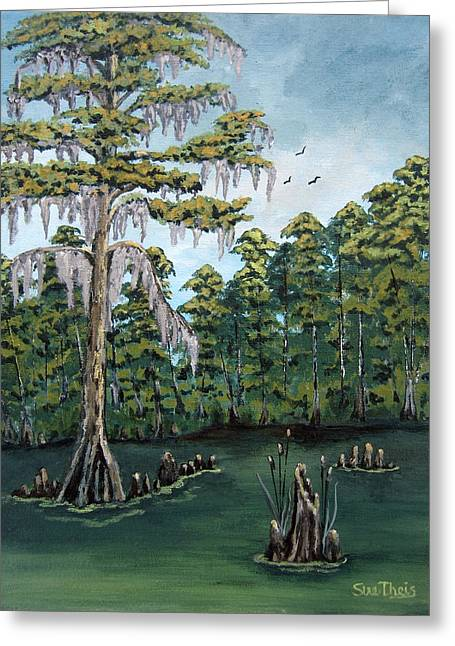 Louisiana Cypress Greeting Card