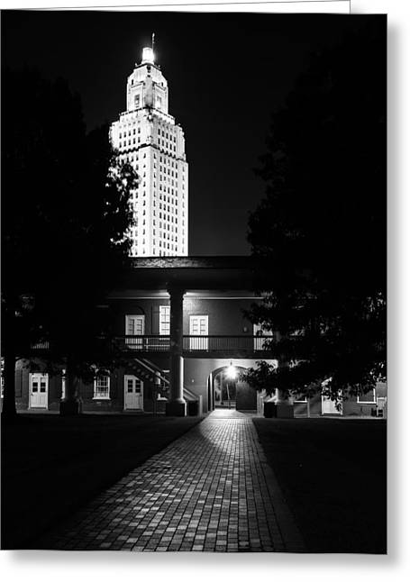 Louisiana State Capitol And Pentagon Barracks Greeting Card by Andy Crawford