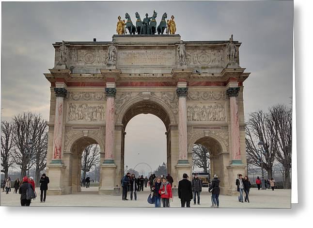 Louvre - Paris France - 011311 Greeting Card