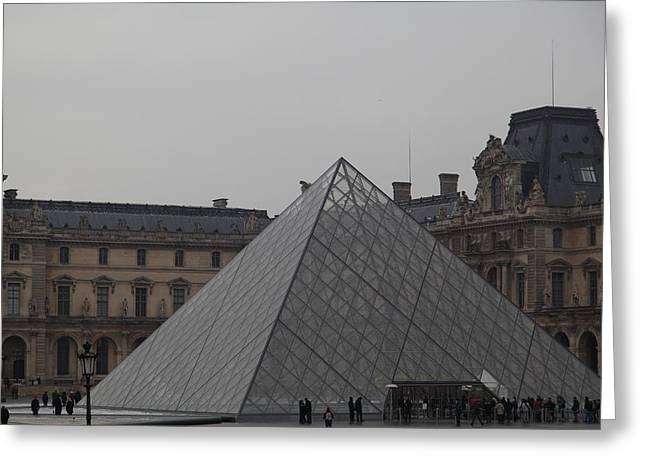 Louvre - Paris France - 01133 Greeting Card by DC Photographer