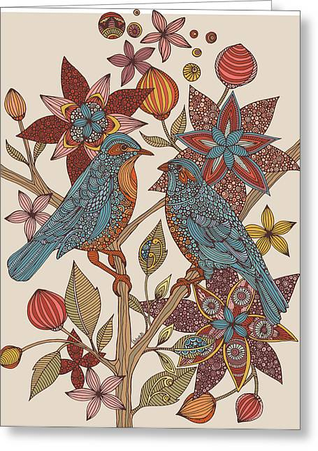 Love Birds Greeting Card by Valentina