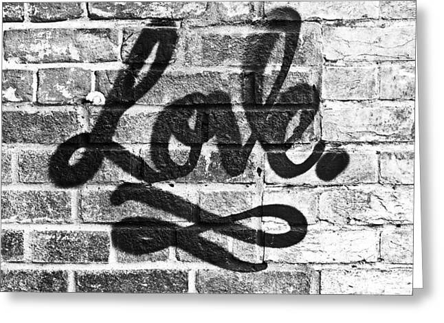 Love Graffiti Greeting Card by Tom Gowanlock