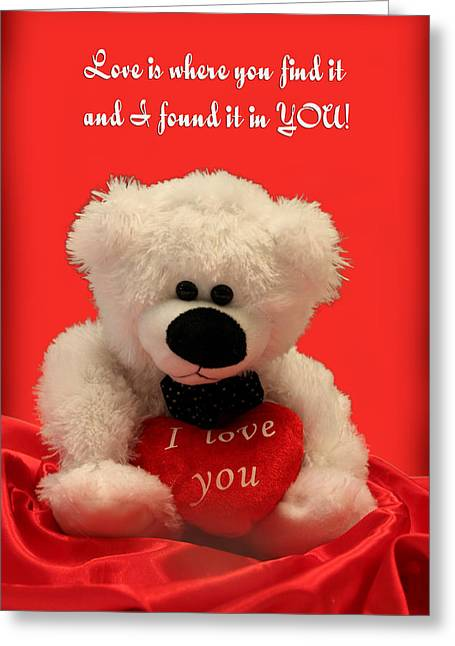 Love Is Where You Find It Greeting Card
