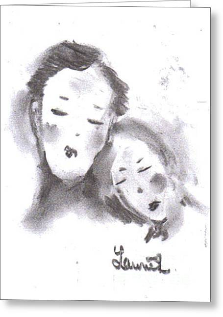 Greeting Card featuring the drawing Love by Laurie L