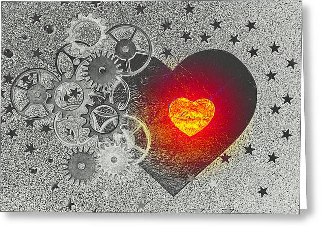 Love Makes It Work Greeting Card by Christine Ricker Brandt