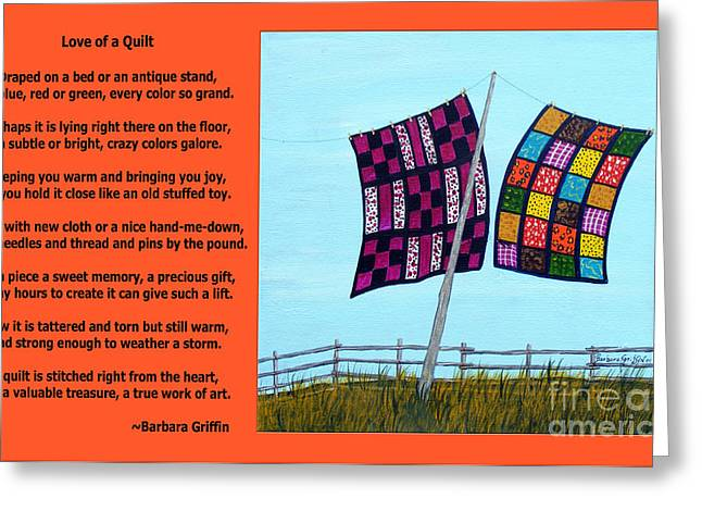 Love Of A Quilt  Greeting Card