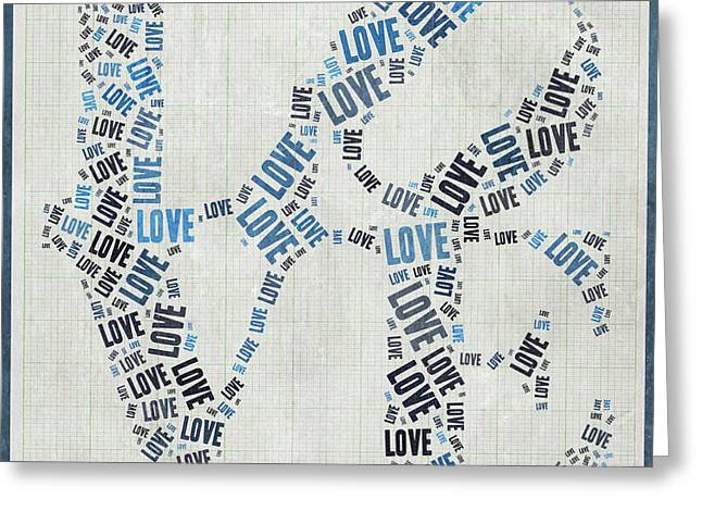 Love Quatro - Heart - S111b Greeting Card by Variance Collections