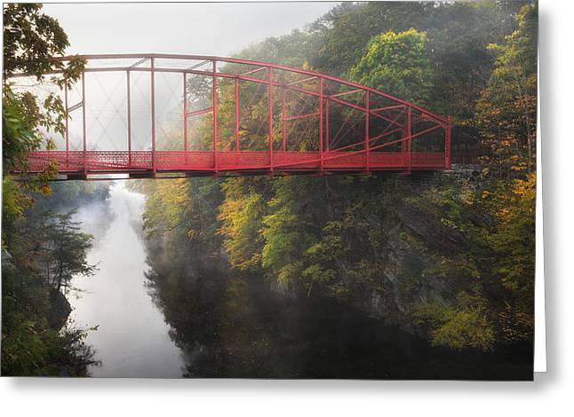 Lovers Leap Bridge Greeting Card by Bill Wakeley