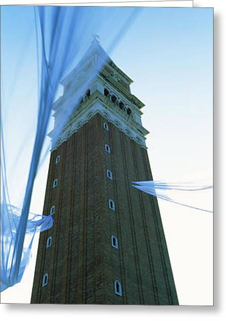 Low Angle View Of A Bell Tower, St Greeting Card