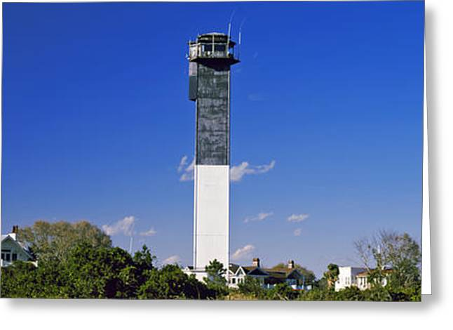 Low Angle View Of A Lighthouse Greeting Card