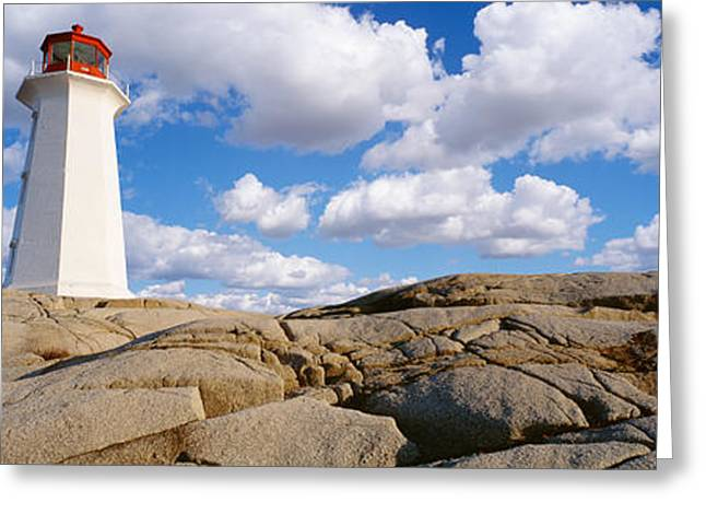 Low Angle View Of A Lighthouse, Peggys Greeting Card by Panoramic Images