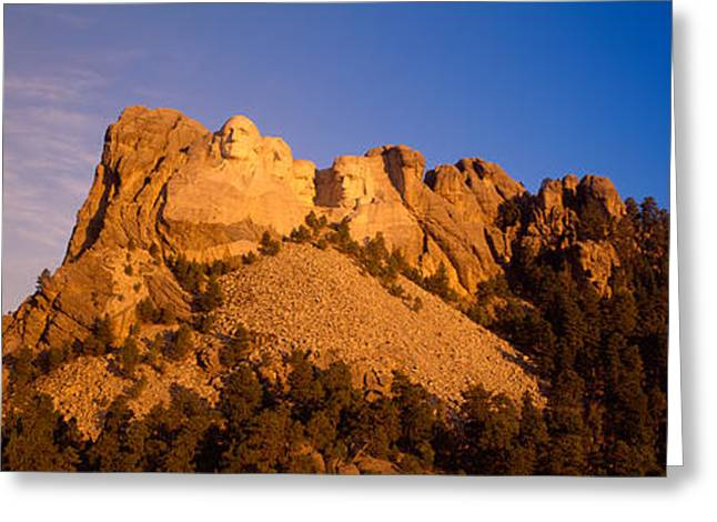 Low Angle View Of A Monument, Mt Greeting Card by Panoramic Images