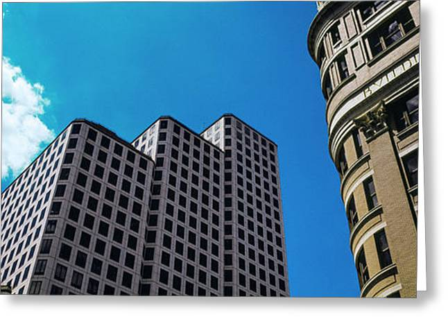Low Angle View Of Buildings In Austin Greeting Card by Panoramic Images